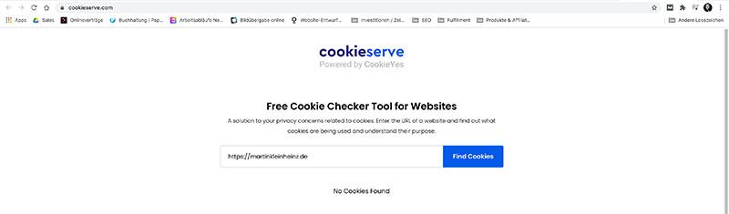 Cookie Test - Keine Cookies